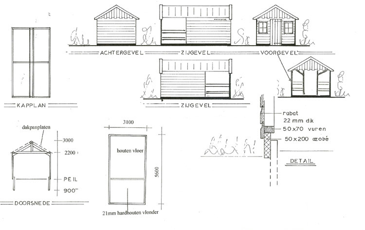 Bouwtekening tuinhuisje nodig? Gebruik dan Freds bouwtekeningen