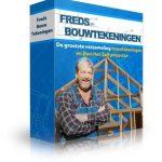 Bouwtekeningen van Fred Schouten ook voor bed van steigerhout