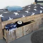 bed steigerhout met lade